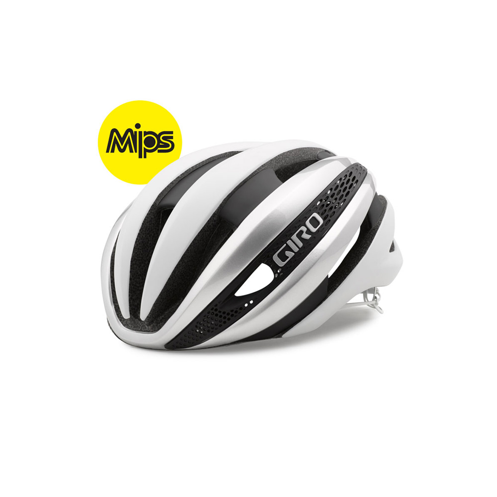 Giro Synthe MIPS – Hvid / Sølv | Helmets